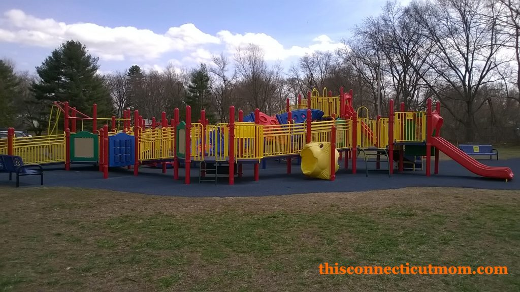 Enfield Rotary Playground- Large Playscape Full View