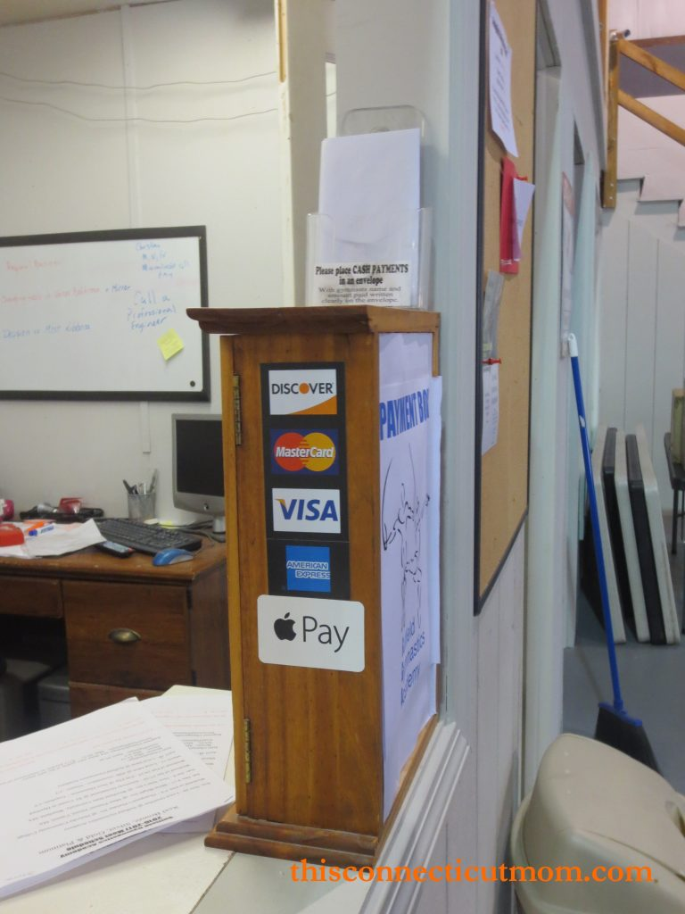 Suffield Gym- Payment Booth