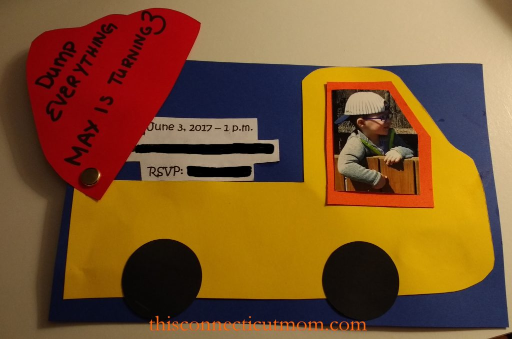 Dump truck birthday invitations i have discovered that i love paper crafting over the last few years i have made his birthday invitations every year as well as every other event in our filmwisefo
