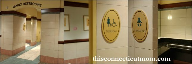 They Have A Womens And Mens Room As Well Family Restroom With Changing Area Nursing Lounge